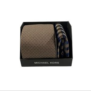 Michael Kors Necktie and Pocket Square Gift Box